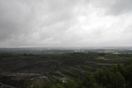 Blick über den Steinbruch am Piesberg.