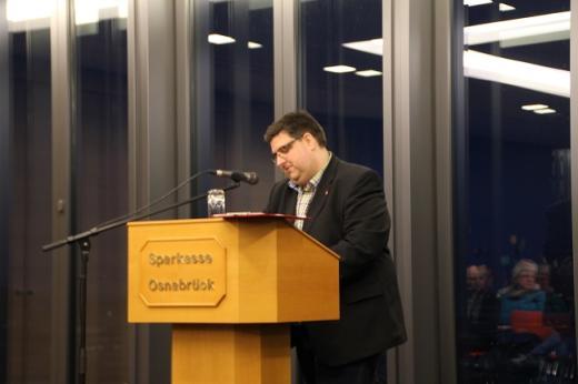 Stephan Soldanski, Vorsitzender der AfA Region Osnabrück und 2. Bevollmächtigter der IG Metall Osnabrück.