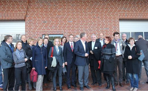 Die Teilnehmer der Exporttour bei der Firma PURPLAN GmbH in Wallenhorst.