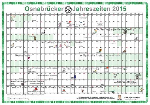 So sieht der Kalender für 2015 aus.