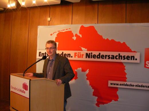 Erste Rede als SPD-Kandidat für den Landtag.
