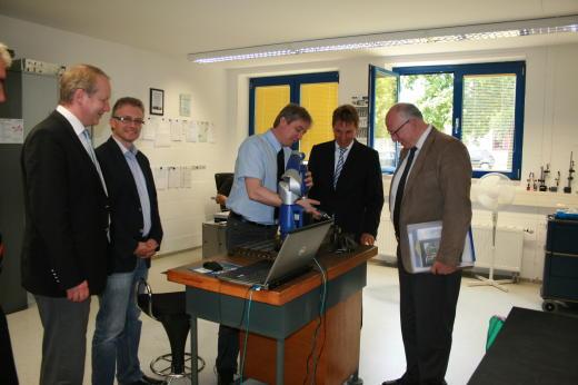 zu Besuch bei der Osnabrücker Firma Abacus.