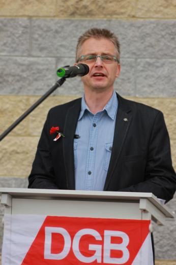 Auf der Maikundgebung des DGB am 01.05.2012.