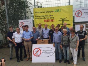 Gruppenfoto in Borgloh im Rahmen der Sternwanderung für Erdverkabelung