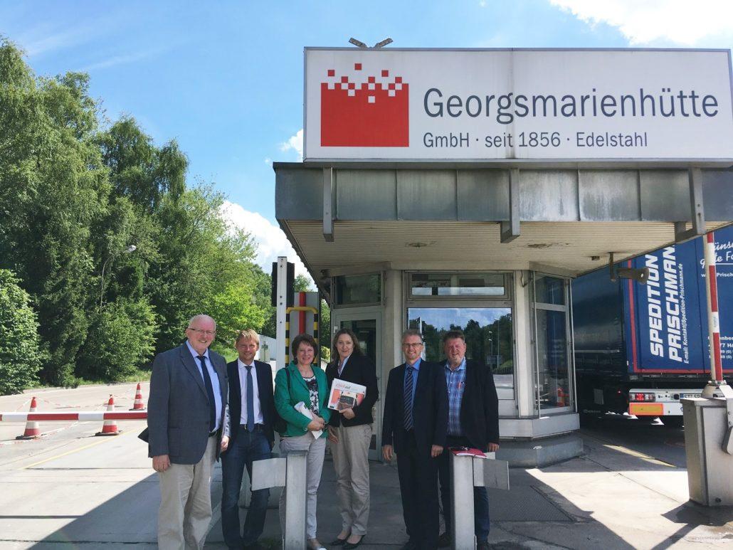 Besuch der GM-Hütte. Von links nach rechts: Gerd Will, Stefan Klein, Jutta Olbricht, Gabriele Andretta, Frank Henning und Ronald Schminke.
