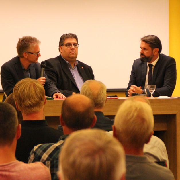 Diskussionsrunde mit Frank Henning, Stephan Soldanski und Olaf Lies.
