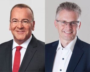 Die SPD-Abgeordneten Boris Pistorius und Frank Henning.