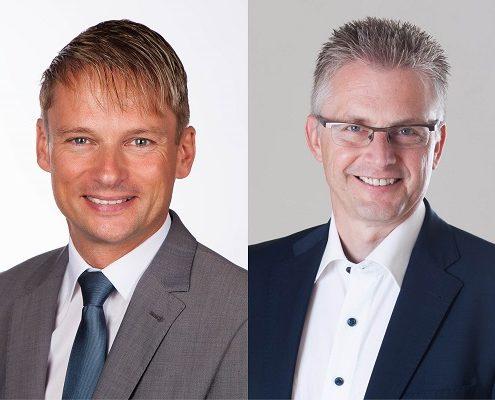 Die SPD-Landtagsabgeordneten Stefan Klein und Frank Henning.