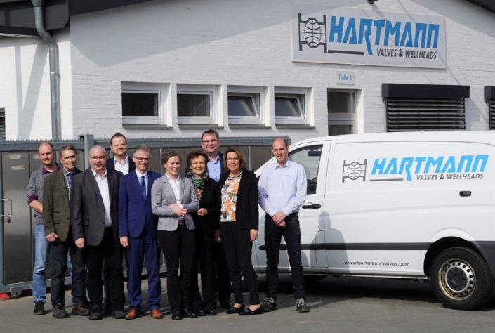 Mit dem SPD-Arbeitskreis Wirtschaft zu Besuch bei der Firma Hartmann Valves GmbH in Burgdorf.