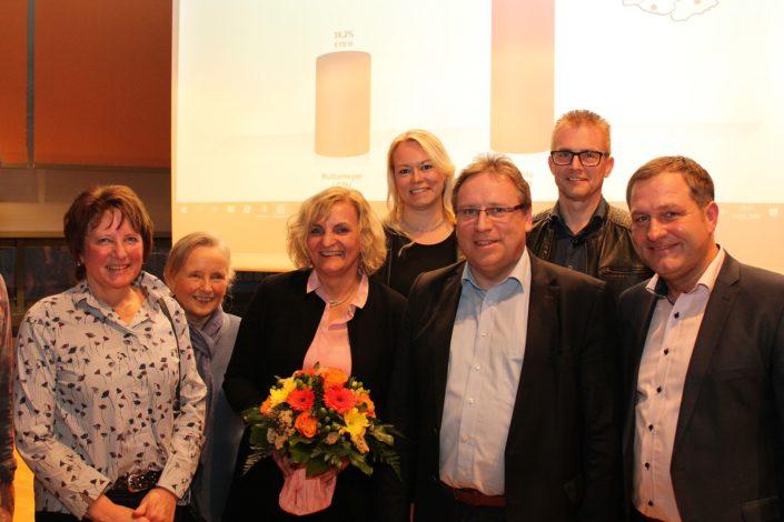 V.l.n.r.: Jutta Olbricht, Johanna Lüchtefeld, Dagmar Bahlo, Jutta Dettmann, Horst Baier, Frank Henning und Guido Pott.