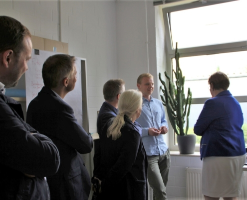 Gründer Victor Große Macke stellt seine Unternehmensidee vor.
