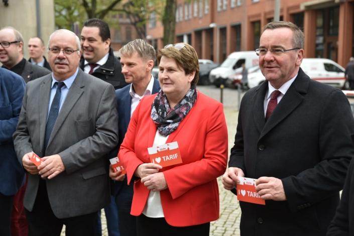 Große Beteiligung seitens der SPD-Fraktion bei der Demonstration der Mitarbeiterinnen und Mitarbeiter der Gilde Brauerei.
