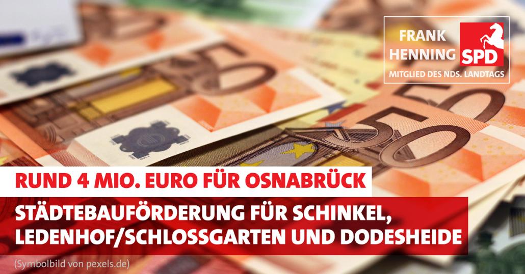 Rund 4 Mio. Euro Städtebauförderung für Osnabrück